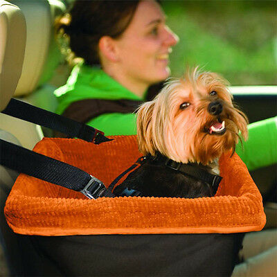 Box Dog Booster Seat for Cars with Seat Belt Tether Travel Pet Car Carriers New.
