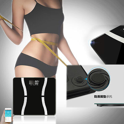 Body Fat Monitor Composition Smart Scale LED Bluetooth Weight Balance Muscle Pro