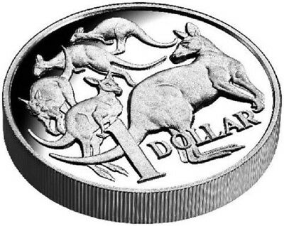 30th Anniversary of the $1 Coin Mob of Roos - Fine Silver Proof High Relief  RAM