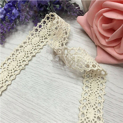 Vintage Ivory Cream Lace Bridal Wedding Trim Ribbon Craft Cotton Crochet B075