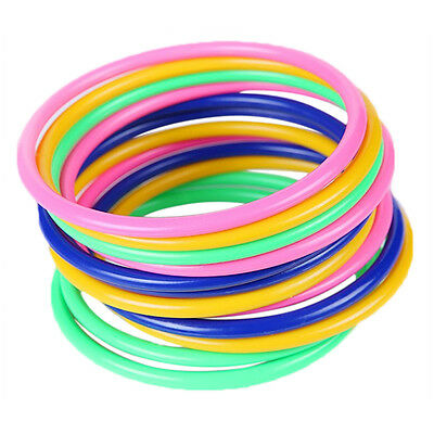 """10pcs Plastic Toss Rings Circle Hoopla Game Throw to Hook Kids Child 5.1""""/13CM."""