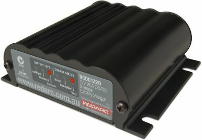 Redarc In Vehicle Battery Charger 12V 20A Multi-Stage DC DC BCDC1220