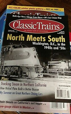 6 Classic Trains Magazine Lot VG+ condition