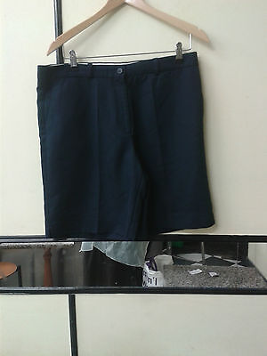 """Glenmuir 1891 Ladies Golf Shorts Trousers Navy Size 34"""""""