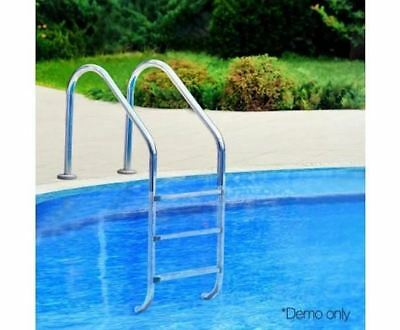 Aquabuddy 3 Wide Swimming Pool Ladder In-Ground Stainless Steel Non-Slip Steps