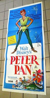 Peter Pan Australian daybill 1960s re-release of classic Disney 1953  animation