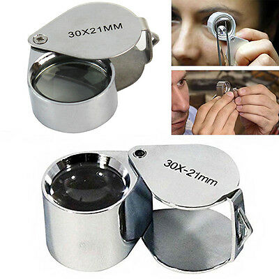 35*23*17mm Glass Magnifying Magnifier Jeweler Eye Loupe Loop Portable Glas Pro