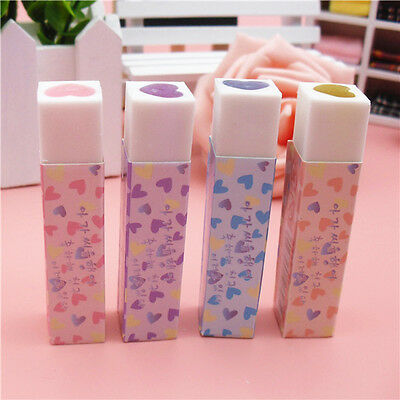 Design Soft Dust Free Erasers Stationery School Office Pencil Plastic Rubber Kit