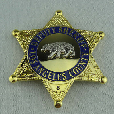 Us Lapd Deputy Bear Sheriff Badge With No Pin Props Collection For Cosplay Fun