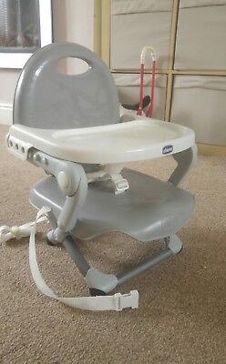 Chicco Silver Pocket Snack Booster Chair/Highchair