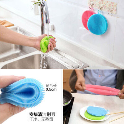 Cleaning Kitchen Tool Sponge Hot Silicone Dish Multipurpose Antibacterial