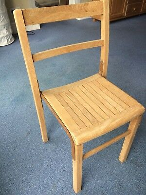 Vintage industrial wooden school chairs stacking