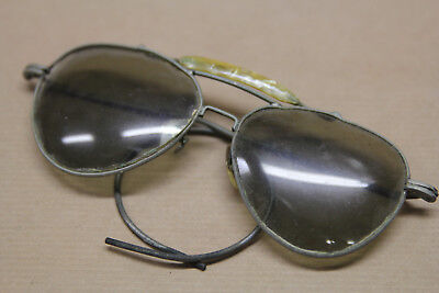 Vintage Aviator Style  Lens Sunglasses With Pearl Bridge Old