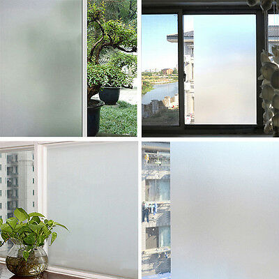 1m/2m Frost Privacy Frosted Window Film Matte Opal Etch Tinting Tint Glass Vinyl