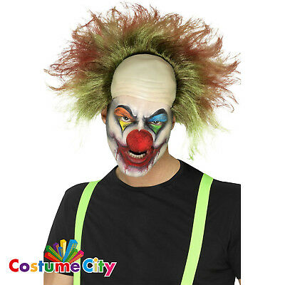 Adults Circus Sinister Clown Wig Cap Halloween Horror Fancy Dress Accessory