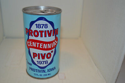 1978 Protivin Iowa Centennial beer can-Walter Brwg. Co., Eau Claire, WI