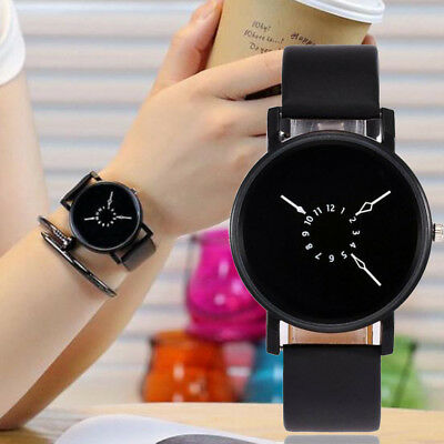 New Fashion Women Ladeis Leather Band Stainless Steel Quartz Analog Wrist Watch