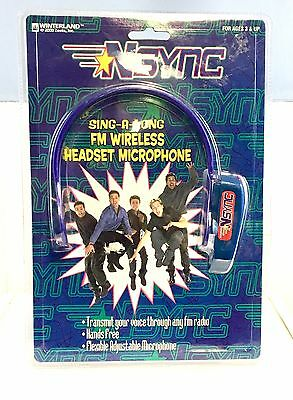 2000 Nsync Sing-A-Long Fm Wireless Headset Microphone - New
