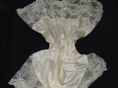 """""""lejaby"""" Teddy Cream Satin&delicate Floral Lace Trims  French Chic&femme Super"""