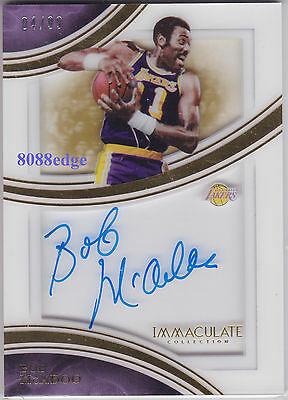 2015-16 IMMACULATE SHADOWBOX AUTO: BOB McADOO #4/99 ON CARD AUTOGRAPH LAKERS