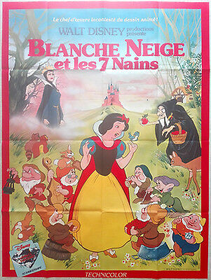 1983RR SNOW WHITE AND THE SEVEN DWARFS Walt Disney French Grande poster