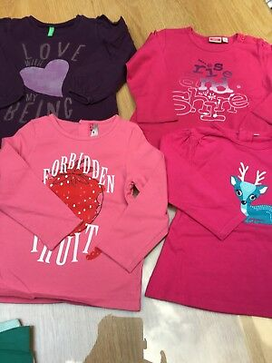 4 tshirts longues manches taille 86