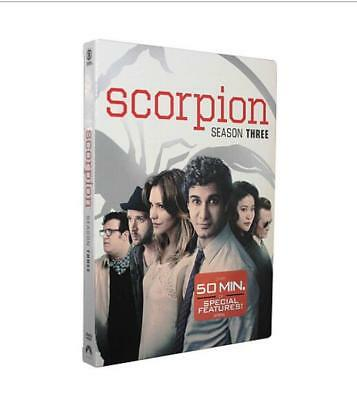 Scorpion Season 3  (DVD, 2017, 6-Disc Set) Brand New Sealed