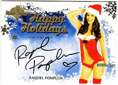 2013 Benchwarmer Holiday Auto: Raquel Pomplun -Autograph Blue Background Pmoy