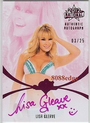 2012 Benchwarmer National Auto: Lisa Gleave #3/25 Autograph Born Aussie Sexy