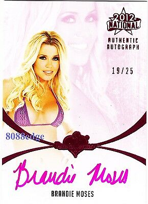 2012 Benchwarmer National Auto: Brandie Moses #19/25 Pink Autograph Playboy