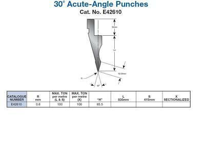 Wilson 30 Degree Acute Angle Top Tooling Punch, £165 + Vat