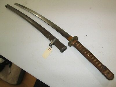 Ww2 Japanese High Quality Officers Sword With Scabbard Mantetsu Manchuria #s6