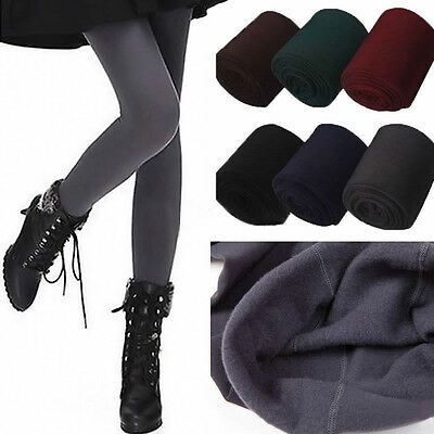 Womens Warm Winter Thick Skinny Slim Footless Leggings .Stretch Pants 3 Colors