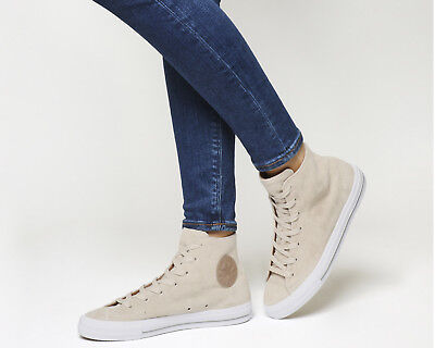 Womens Converse Ctas Gemma Hi IVORY CAMEL SUEDE Trainers Shoes *Ex Display*