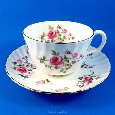 "Stunning Adderley ""Fragrance"" Tea Cup and Saucer Set"