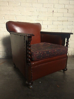 Vintage Oak Club Chair