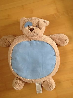 Plush 'Lay On Me' Blue Dog Baby Mat by Kellytoy