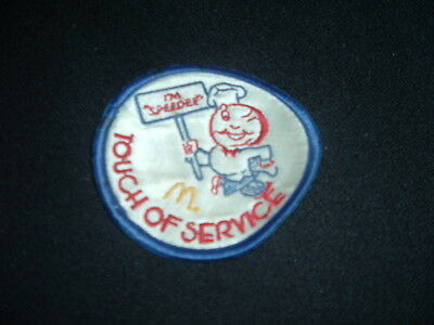 Vintage Touch Of Service Winking Speedee Embroidered Patch McDonalds
