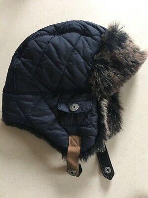 Next Boys Warm Furry Trapper Hat Age 3-6yrs Immaculate Worn Once