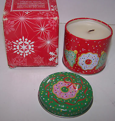 Avon Holiday Treats Candle Collection In Tin Sugar Cookies Scent - New
