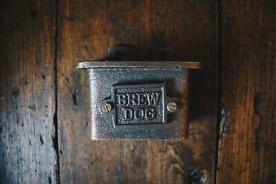 Cast Iron Wall Mounted Cap Catcher/Bottle Cap/Bottle Opener/ BREW DOG