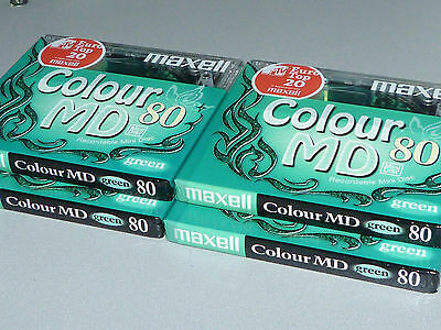 """4 Maxell Minidisc Colour MD80 - Europa Twinkel - Butterfly - """"New and sealed"""""""