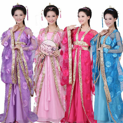 2017 Ancient Women Ladies Chinese Costum Dress Clothing Women Dance Dress Suit