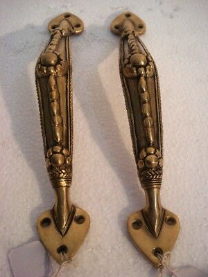 LARGE - Vintage Style BRASS Door Handle - PARROT  Style  - BRASS (2679)