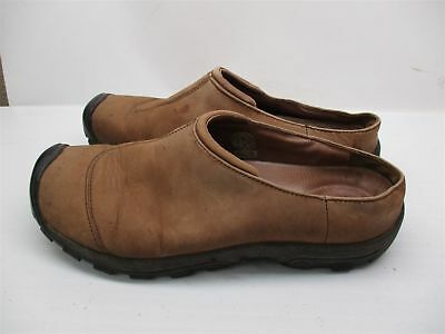 >> KEEN  Men's Size 12 Casual Slip on Brown Leather Slipper Shoes mocs<<