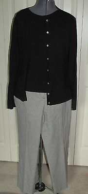 3 PC Talbots' sweater set & Talbots' Signature black & white pants M/10