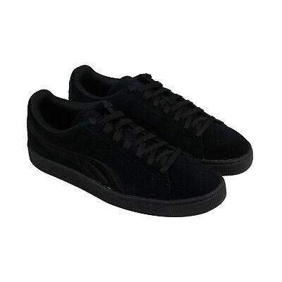 Puma Suede Classic Badge Mens Suede Black Lace Up Lace Up Sneakers Shoes