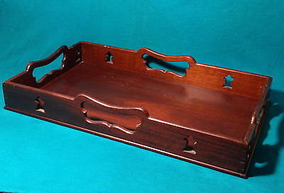 RARE Antique Colonial WILLIAMSBURG AP 120 MAHOGANY GALLERY WOOD TRAY VIRGINIA