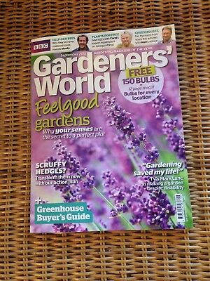 Gardeners' World Magazine September 2017 issue RRP £4.75 + 2 packets of seeds