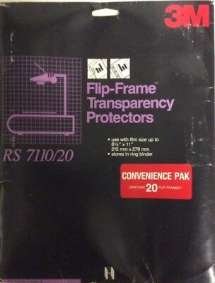 New!  3M Flip-Frame Transparency Film Protectors RS 7110 Flip-out Borders E-1